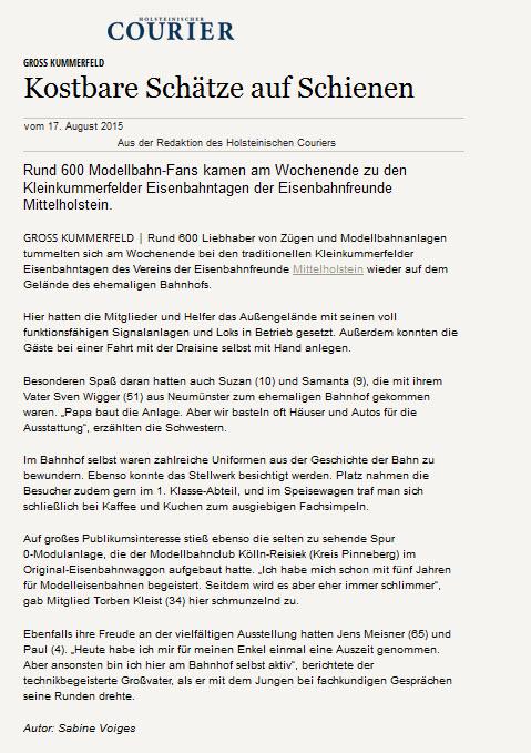 Holsteinischer Courier_2015_08